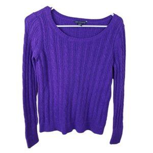 AEO Purple Pullover Cable Knit Sweater Size SP